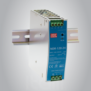 Fuente de Alimentación para riel Din 120W 24VDC On-Off